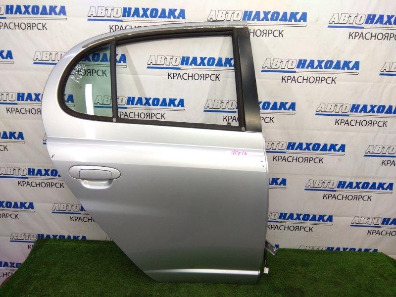 Дверь Toyota Platz NCP16 2NZ-FE 1999 задняя правая В целом ХТС, задняя правая, серебристая (199), в