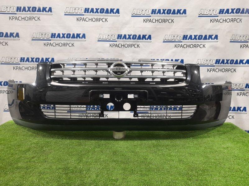 Бампер Nissan Stagea M35 VQ25DD 2001 передний передний, дорестайлинг, с решеткой. Есть потертости,