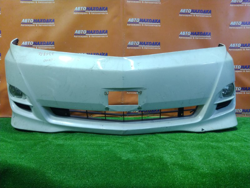 Бампер Toyota Alphard ANH10 2AZ-FE передний 52119-58150 ТУМАНКИ 42-34. ТРЕЩИНА