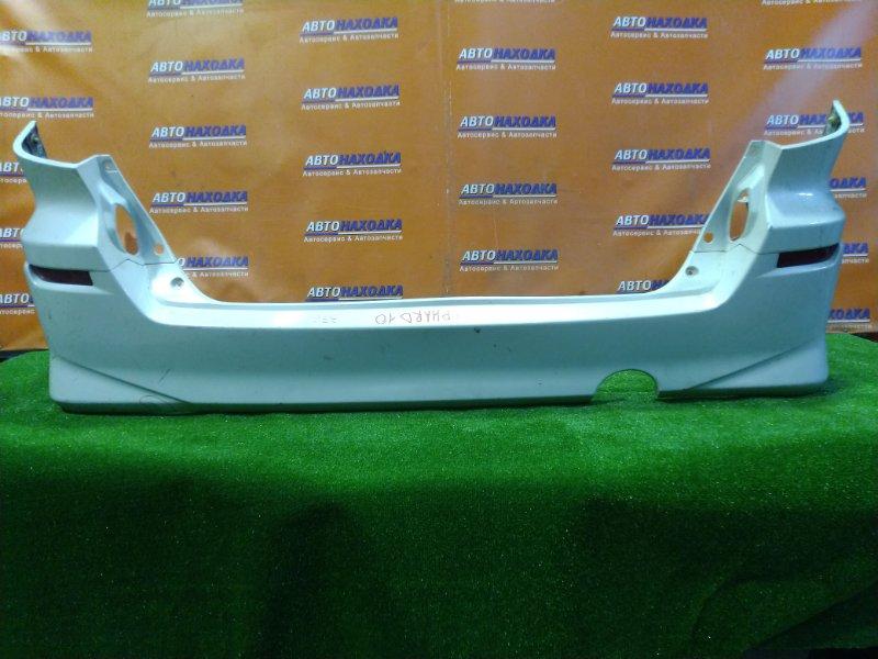 Бампер Toyota Alphard ANH10 2AZ-FE задний 52159-58040 КАТАФОТЫ 7408. ВНИЗУ НАДРЫВ.