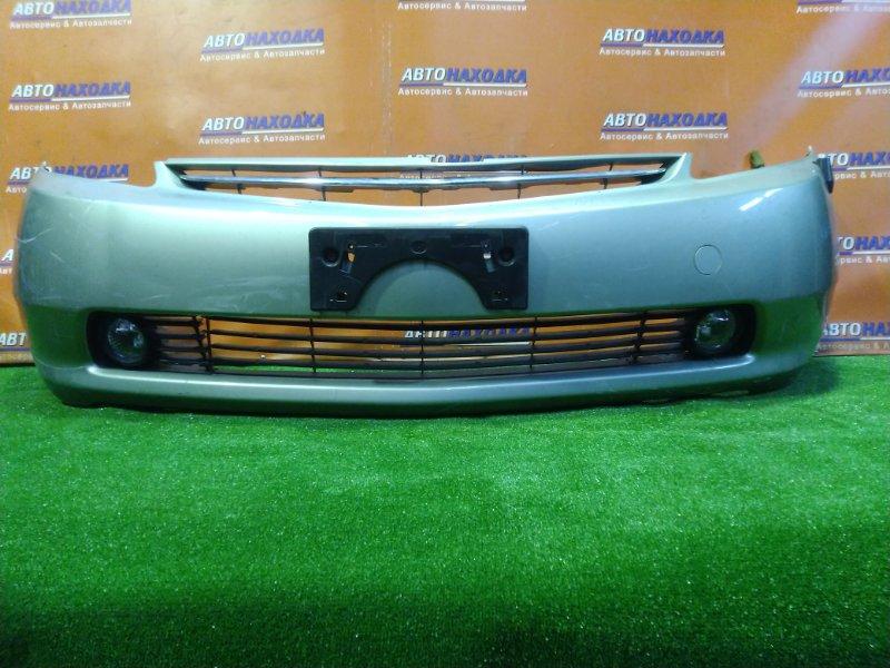 Бампер Toyota Prius NHW20 1NZ-FXE передний 52119-47050 ТУМАНКИ 114-77828. АНТЕНА