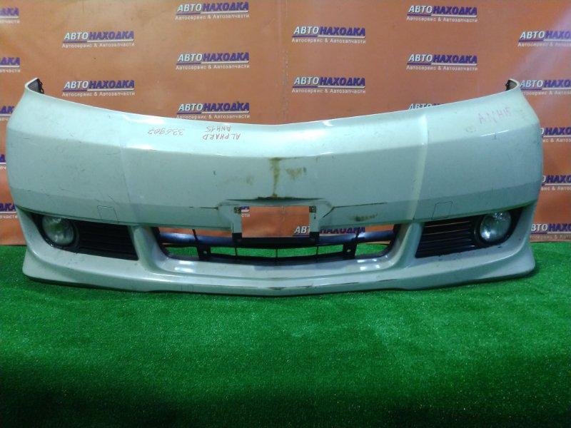 Бампер Toyota Alphard ANH10 2AZ-FE передний 52119-58050 ТУМАНКИ 13-42