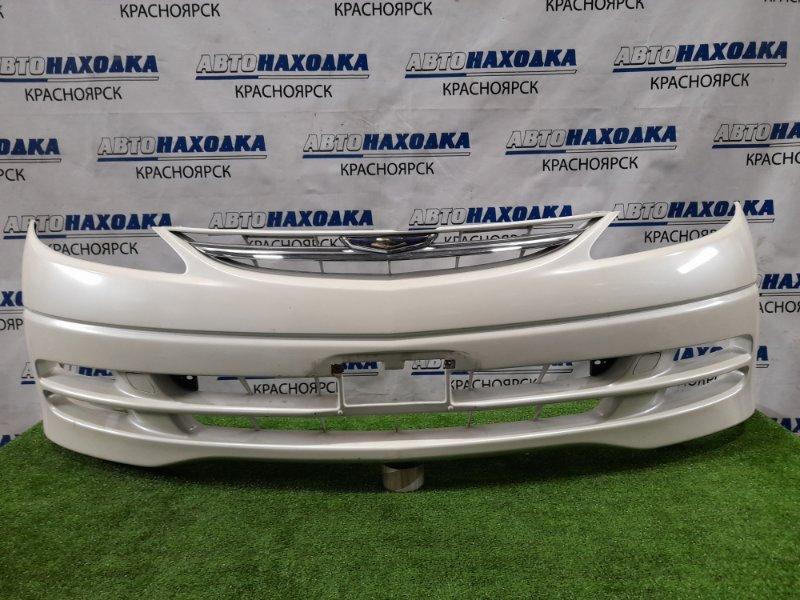 Бампер Toyota Estima MCR30W 1MZ-FE 2000 передний передний, дорестайлинг, с решеткой. Есть царапины,
