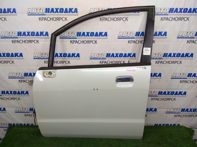 Дверь Nissan Moco MG21S K6A 2002 передняя левая В целом ХТС, передняя левая, цвет белый перламутр