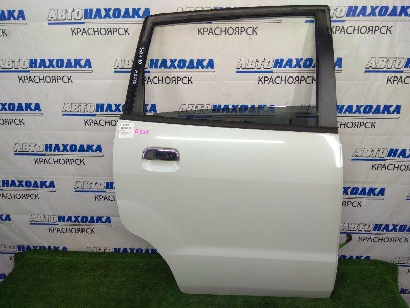 Дверь Nissan Moco MG21S K6A 2002 задняя правая В целом ХТС, задняя правая, белый перламутр (Z7T), в