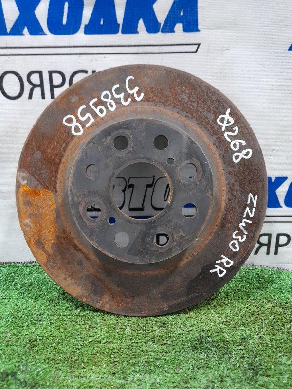 Диск тормозной Toyota Mr-S ZZW30 1ZZ-FE 1999 задний правый задний, диаметр 268мм