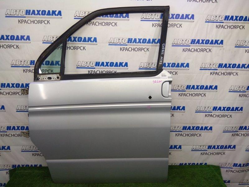 Дверь Mazda Bongo Friendee SGLW WL-T 1995 передняя левая передняя левая, серебристая (18G), без стекла,