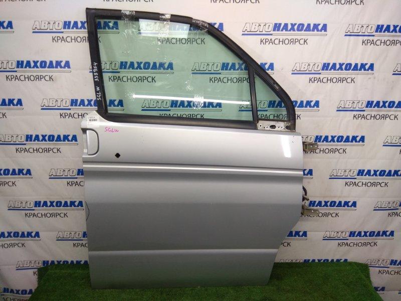 Дверь Mazda Bongo Friendee SGLW WL-T 1995 передняя правая передняя правая, серебристая (18G), без блока