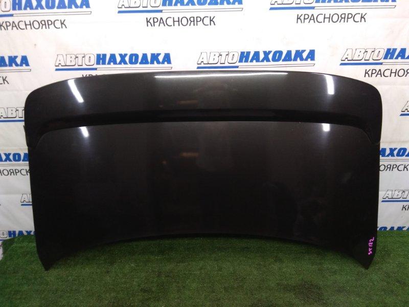 Крышка багажника Toyota Corona Exiv ST182 3S-FE 1991 задняя В ХТС, черная (6K8), с спойлером( с доп.