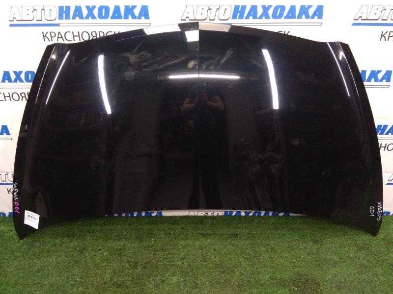 Капот Honda Fit GD1 L13A 2001 передний В ХТС, черный (B92P), под полировку