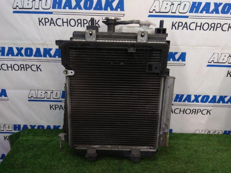 Радиатор двигателя Daihatsu Mira L275S KF-VE 2006 A/T, в сборе с диффузором, вентилятором,