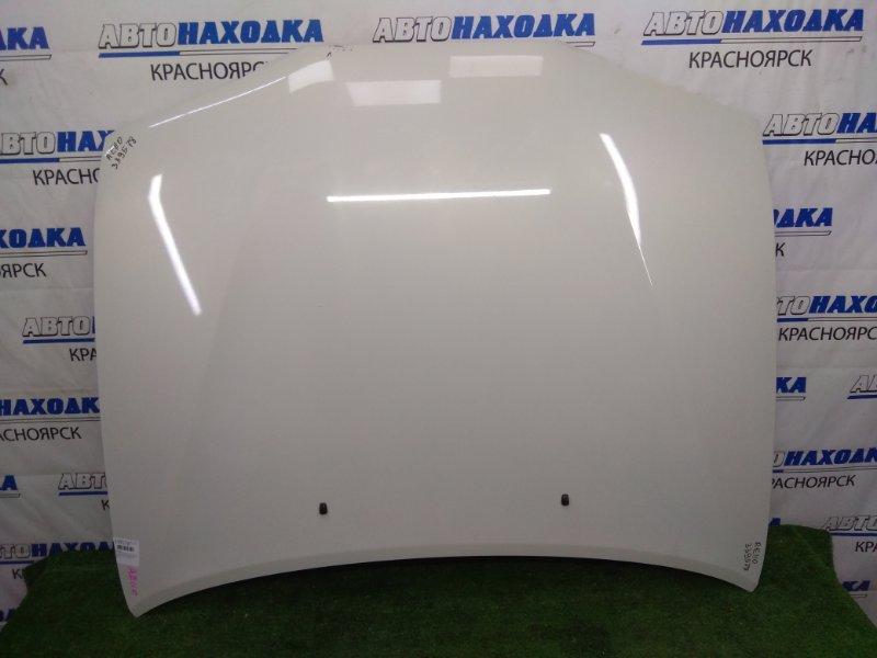 Капот Toyota Sprinter AE110 5A-FE 1995 передний белый перламутр (057), перекрашивался в Японии, есть