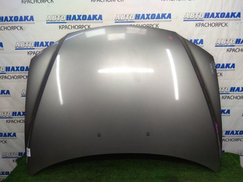 Капот Mazda Atenza GY3W L3-VE 2002 передний серый, есть вмятинка, сколы по ЛКП
