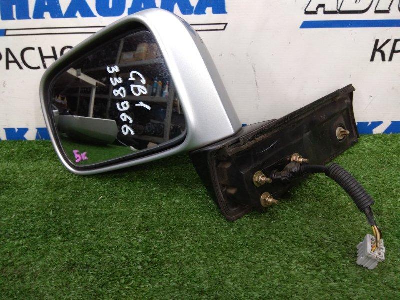 Зеркало Honda Mobilio GB1 L15A 2001 переднее левое переднее левое, серебристое, есть потертости до