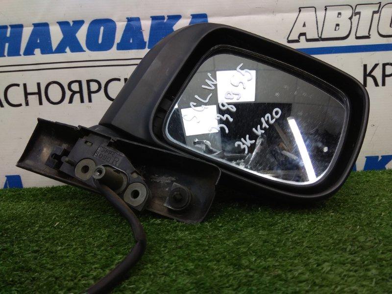 Зеркало Mazda Bongo Friendee SGLW WL-T 1995 переднее правое правое, некрашеное, 3 контакта
