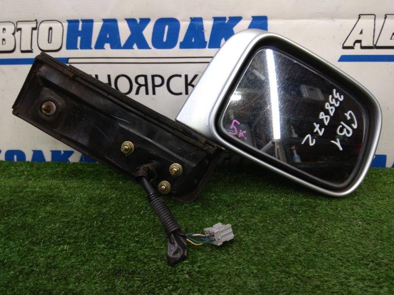 Зеркало Honda Mobilio GB1 L15A 2001 переднее правое переднее правое, серебристое, есть потертости