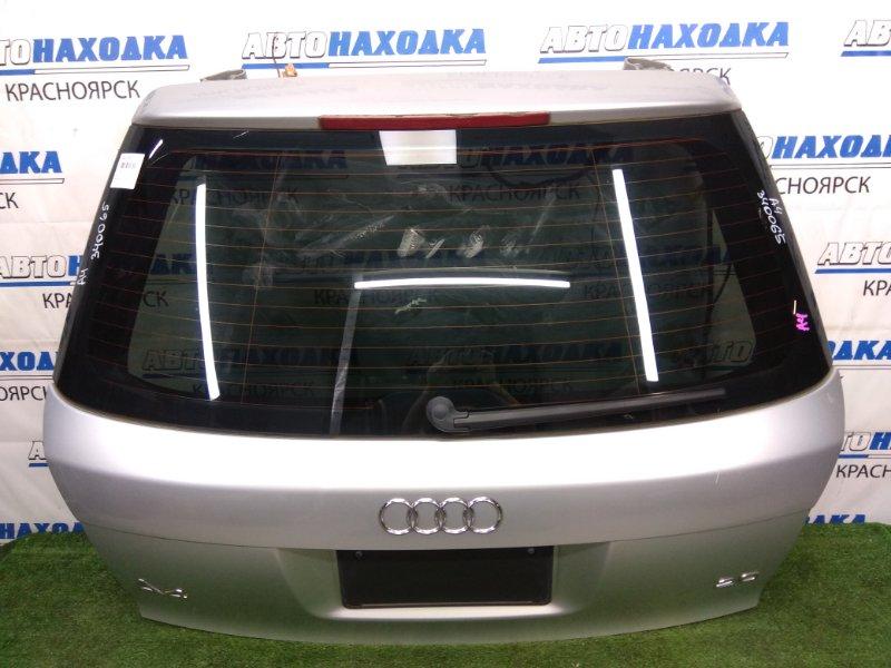 Дверь задняя Audi A4 B6 ALT 2000 задняя серебристая (5B / Y7W), в сборе, под квадратный номер,
