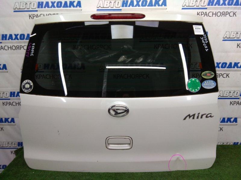 Дверь задняя Daihatsu Mira L275S KF-VE 2006 задняя белый перламутр (W24), с доп. стоп-сигналом, не