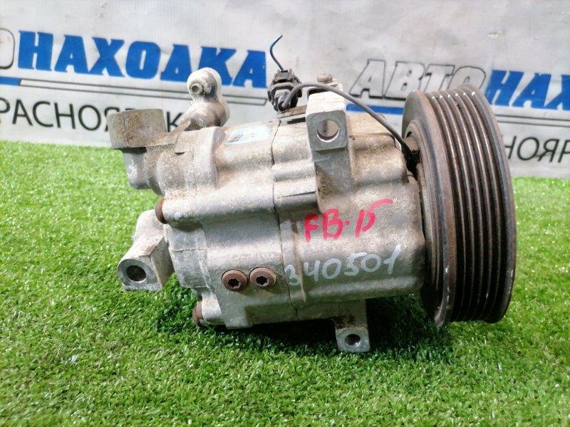 Компрессор кондиционера Nissan Sunny FB15 QG15DE 1998 крепление на 3 болта, шестиручейковый