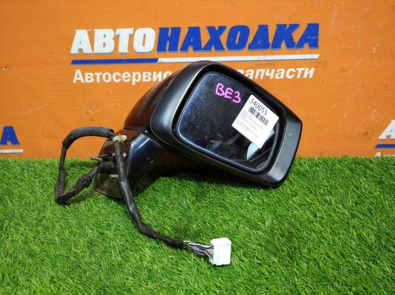 Зеркало Honda Edix BE3 K20A 2004 правое 9 контактов есть потертости/зеркало голубое (антиблик)