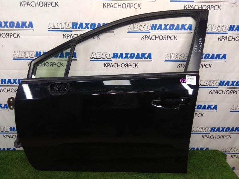 Дверь Subaru Impreza GJ6 FB20 2011 передняя левая В ХТС, передняя левая, черная (D4S), обшивка с