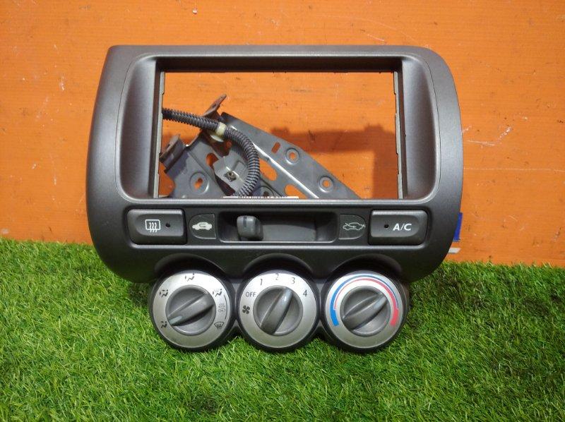 Блок управления климат-контролем Honda Fit GD1 L13A 2004 2 мод.+рамка магнитолы (2 din,есть
