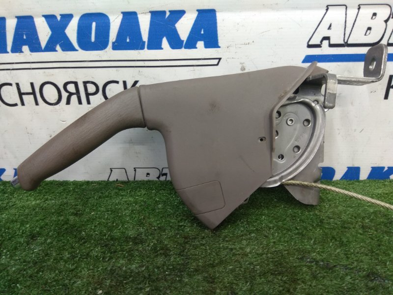 Рычаг стояночного тормоза Nissan Bluebird Sylphy FG10 QG15DE 2000 с центральным тросом, коричневый,