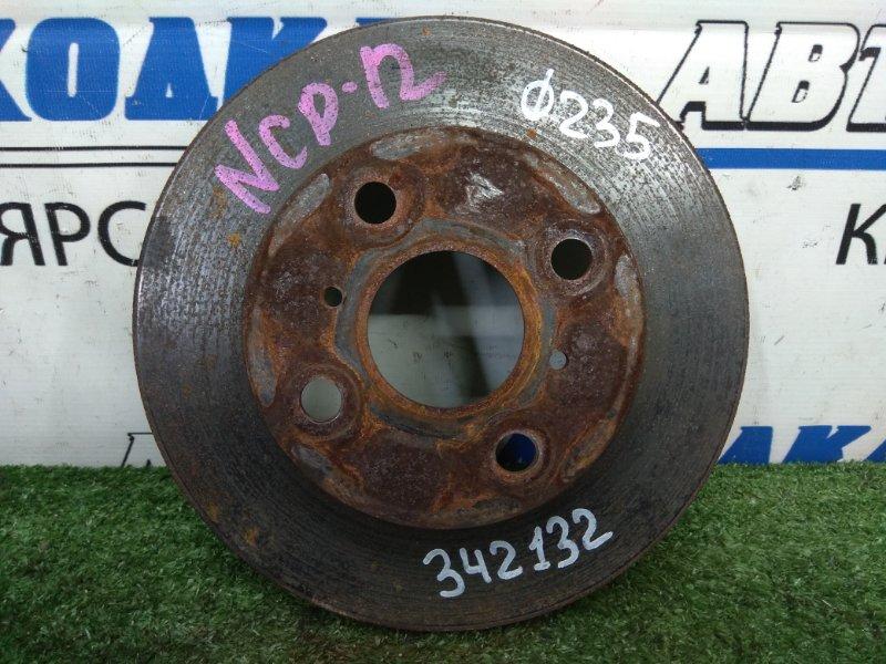 Диск тормозной Toyota Platz NCP12 1NZ-FE 1999 передний передний, вентилируемый, диаметр 235мм,
