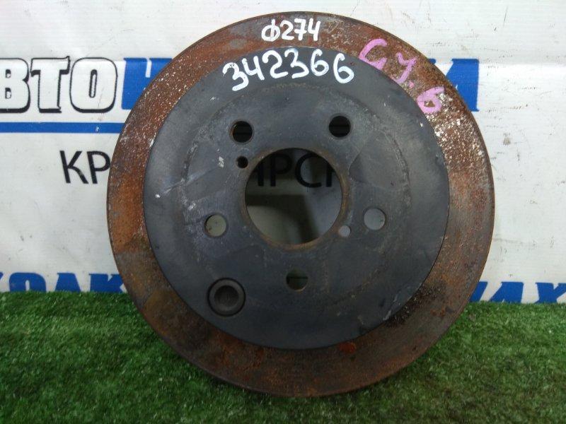 Диск тормозной Subaru Impreza GJ6 FB20 2011 задний задний, невентилируемый, диаметр 274мм