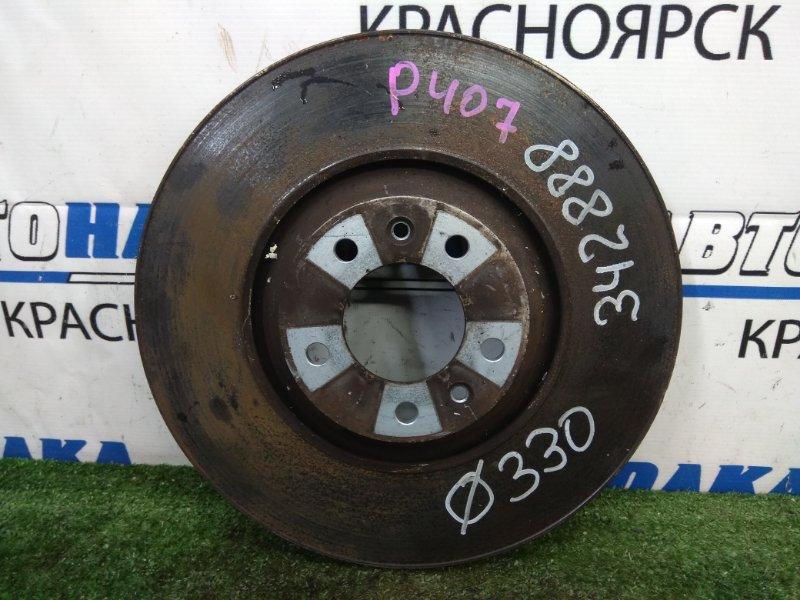 Диск тормозной Peugeot 407 6D ES9A 2004 передний передний, вентилируемый, диаметр 330мм, пробег 31