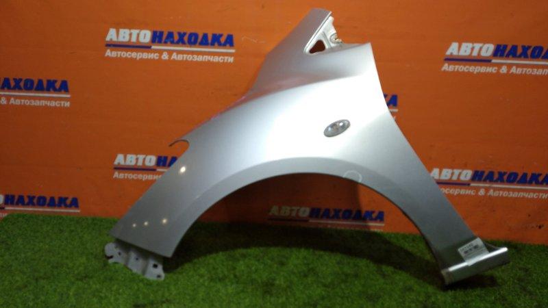Крыло Mazda Demio DE5FS ZY-VE 2007 переднее левое цвет 22B/есть потертости до металла/с повторителем
