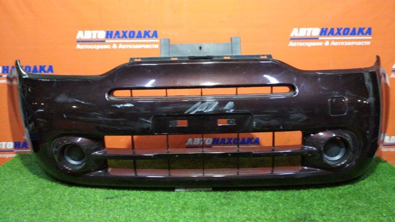 Бампер Nissan Cube Z12 HR15DE 2008 передний под покраску +заглушки