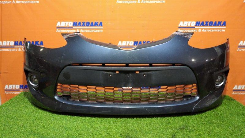 Бампер Mazda Demio DEJFS P3-VPS 2011 передний 2мод, под покраску + туманки 114-61009