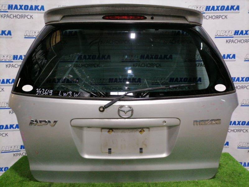 Дверь задняя Mazda Mpv LW3W L3-DE 1999 задняя Задняя, с камерой заднего вида, спойлер ( с