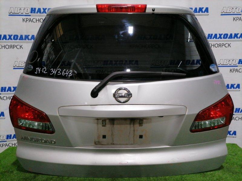 Дверь задняя Nissan Wingroad Y12 HR15DE 2005 задняя С камерой заднего вида, вставками (132-24857),