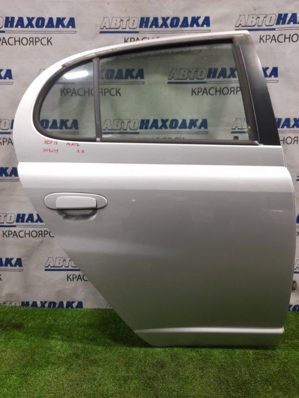 Дверь Toyota Platz NCP12 1NZ-FE 1999 задняя правая задняя правая, цвет 199, в сборе, есть