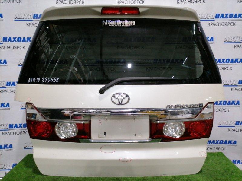 Дверь задняя Toyota Alphard ANH10W 2AZ-FE 2002 задняя С камерой, цвет: 042, с тюнинг фонарями (2