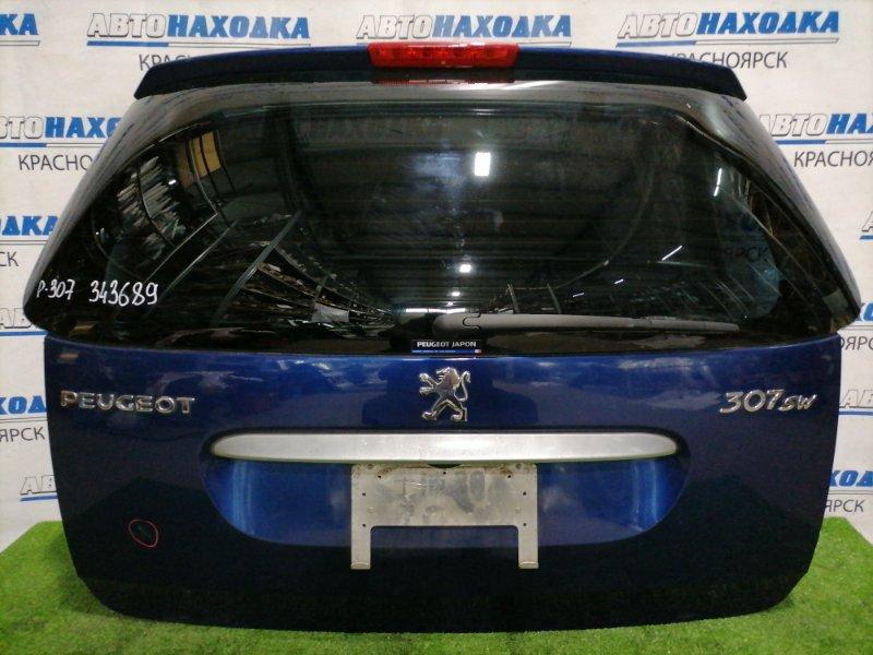 Дверь задняя Peugeot 307 3H EW10J4 2002 задняя Универсал, в сборе, потертости под полировку, на