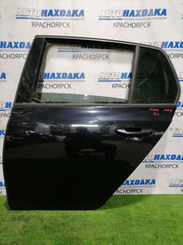 Дверь Volkswagen Golf 5K1 CAXA 2008 задняя левая задняя левая, в сборе, хэтчбэк, есть мелкие сколы,