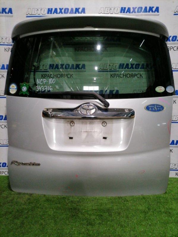 Дверь задняя Toyota Ractis NCP100 1NZ-FE 2005 задняя В сборе, есть дефект хром вставки, спойлер с