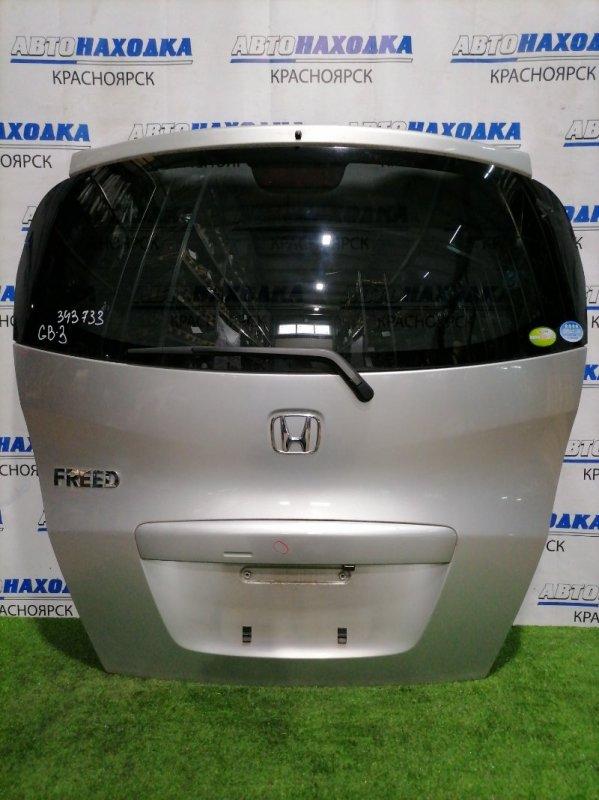 Дверь задняя Honda Freed GB3 L15A 2008 задняя В сборе, с камерой, есть вмятина на верхней части,