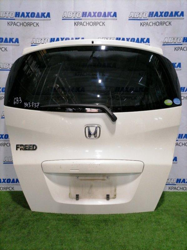 Дверь задняя Honda Freed GB3 L15A 2008 задняя В сборе, есть вмятина на верхней части,