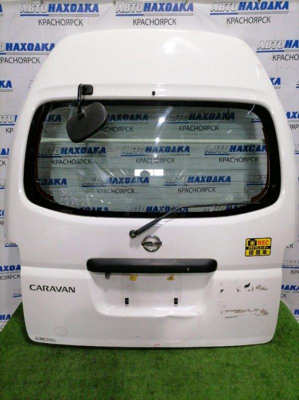 Дверь задняя Nissan Caravan CQGE25 KA20DE 2001 задняя под высокую крышу, в сборе, с зеркалом, с