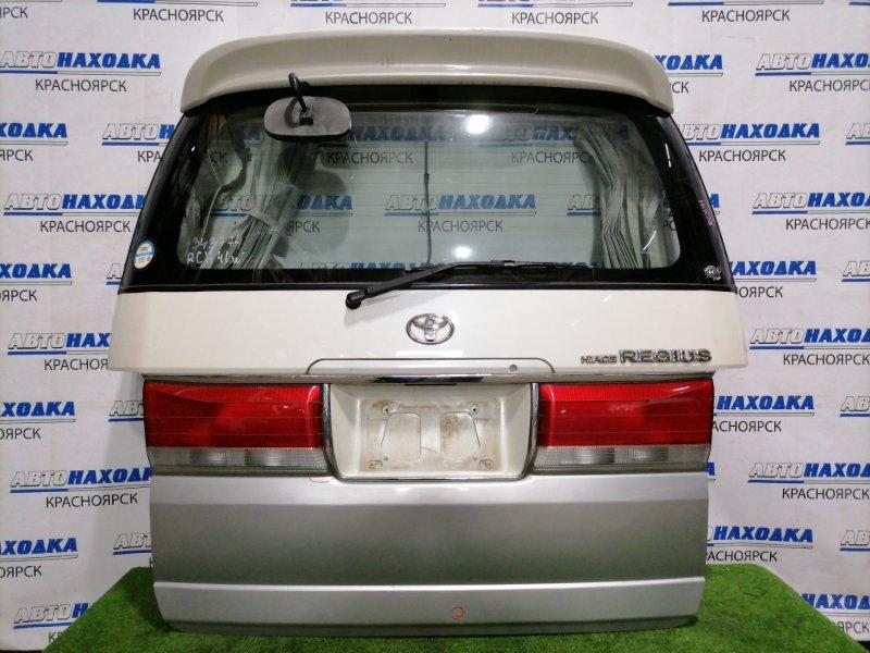 Дверь задняя Toyota Hiace Regius RCH41W 3RZ-FE 1997 задняя В сборе, с спойлером, зеркалом, фонарями