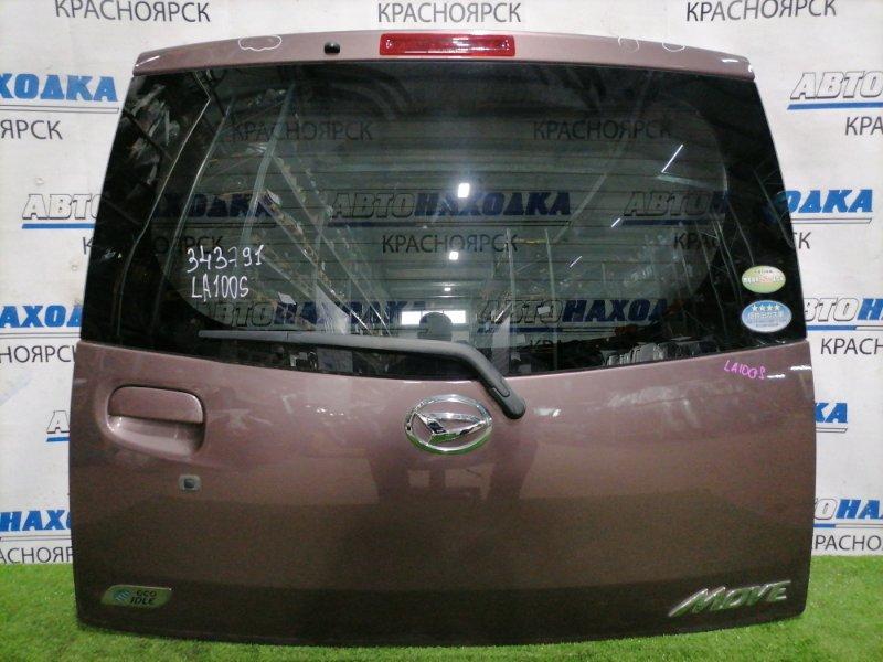 Дверь задняя Daihatsu Move LA100S KF 2010 задняя В сборе, цвет: T26, есть 1 маленькая вмятина и