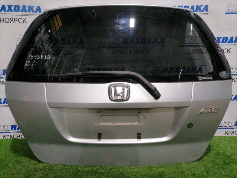 Дверь задняя Honda Fit GD1 L13A 2001 задняя В сборе, дорестайлинг, с личинкой, есть 3 мелких