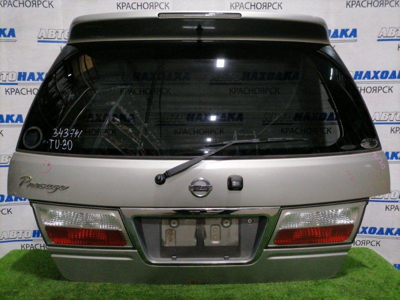 Дверь задняя Nissan Presage TU30 QR25DE 2001 задняя В сборе, с камерой, спойлер, фонарями ( 226-63616),