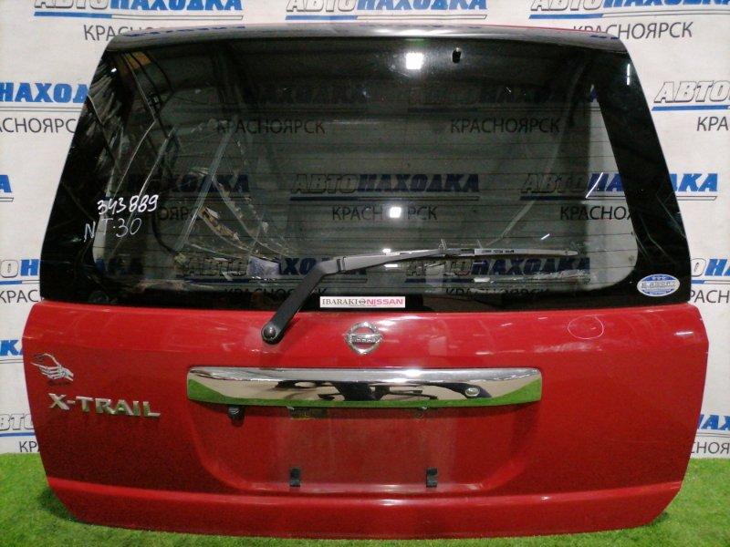 Дверь задняя Nissan X-Trail NT30 QR20DE 2000 задняя В сборе, с камерой заднего вида, с кнопкой