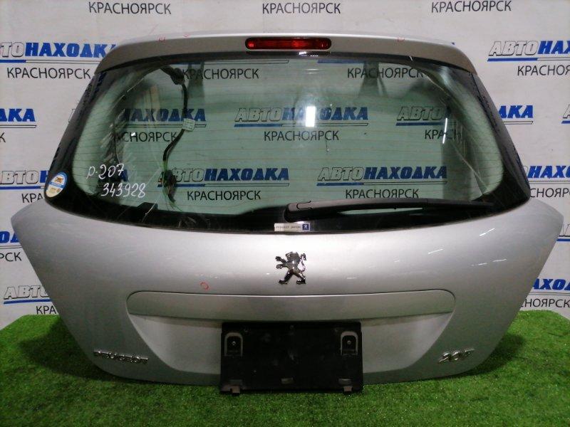 Дверь задняя Peugeot 207 WC EP6 2007 задняя В сборе, есть 1 вмятина, потертости до металла