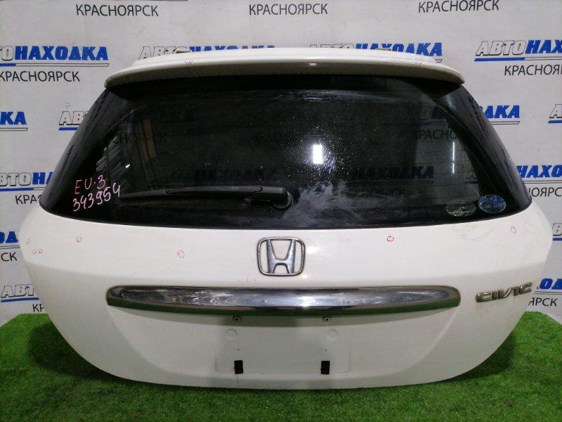 Дверь задняя Honda Civic EU3 D17A 2003 задняя В сборе, рестайлинг, есть дефект хрома на